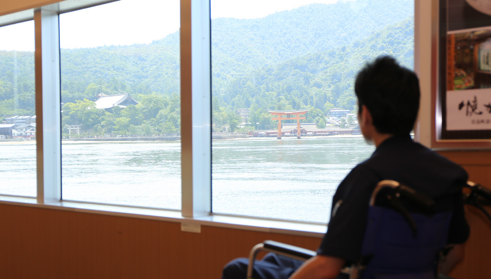 Scenery from inside the Ferry