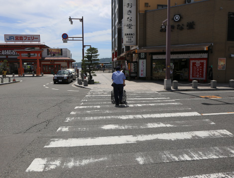 Crosswalk (in front of the traffic circle)